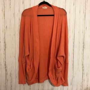 UO Silence + noise coral open cardigan w/ pockets